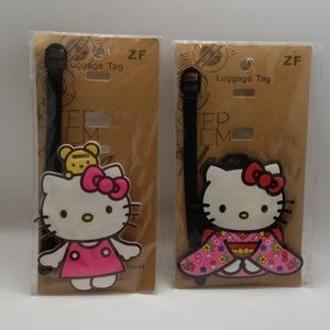 2 Super Cute Hello Kitty Luggage Tags